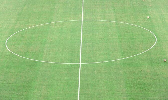 El centro del campo visto desde una perspectiva aérea. Cuotas Cerro Porteño vs Deportivo La Guaira.